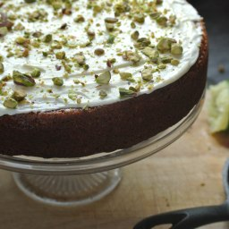 CHERRY BRANDY SOAKED CARROT CAKE WITH LIME CHEESE FROSTING (BUZZ MAGAZINE)