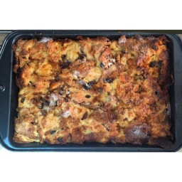 RUM PANETTONE BREAD & BUTTER PUDDING