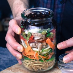 SICHUAN CHICKEN NOODLE JAR (BUZZ MAGAZINE)