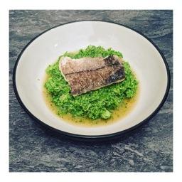 GINGER RICE WINE FISH WITH BROCCOLI & PEA MASH