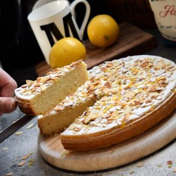 LEMON ALMOND CAKE & ROSEWATER CREAM (RECIPE CONTRIBUITION)