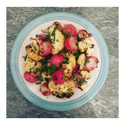 ROAST RADISH & CAULIFLOWER TRAYBAKE