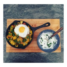 ALOO GOBI WITH CORIANDER YOGURT (THE VEGGIE CONFESSION)