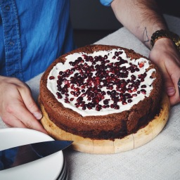 CHOCOLATE CARDAMOM & POMEGRANATE CLOUD CAKE (LBP COLLAB)