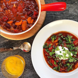 MOROCCAN RED BEAN & APRICOT STEW