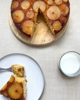 Cardamom Pear Upside Down Cake
