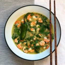 PRAWNS IN THAI CHILLI BROTH