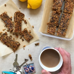 TAHINI LEMON & PEANUT BREAKFAST BARS