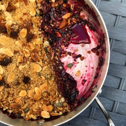 ORANGE & BLACKBERRY CRUMBLE