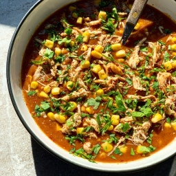 CUBAN BEAN SOUP WITH SHREDDED CHICKEN